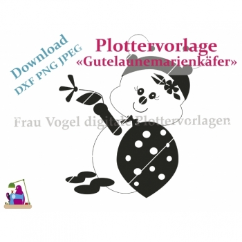 "Plottervorlage plotter file ""Gutelaunemarienkäfe"" SVG PNG JPG Download Article"