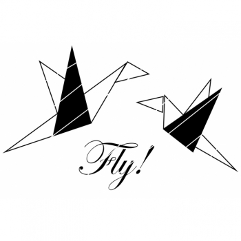 "Plotter Template Plotter File ""Bird Origami"" SVG PNG JPG DXF Download Item"
