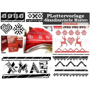 Plotter Template Plotter File Scandinavian Pattern SVG PNG JPG DXF Download Article