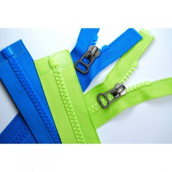 Buy Jacket zipper type Pear divisible Length 65cm Plastic tooth 5mm Num.5 large color choice. Picture 3
