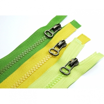 Buy Jacket zipper type Pear divisible Length 65cm Plastic tooth 5mm Num.5 large color choice. Picture 7