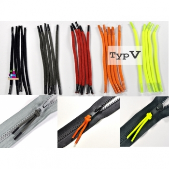 Zipper loop, zipper puller type V, 5 colors on offer, perfect for zippers and zippers