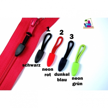 Zipper Puller Zipper Loop Puller Small 3,5cm neon red blue black