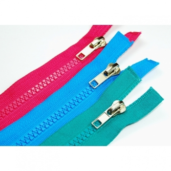 Zipper divisible Type Standard Type 2 Length 55cm Plastic tooth 5mm Num5 30 colors on offer