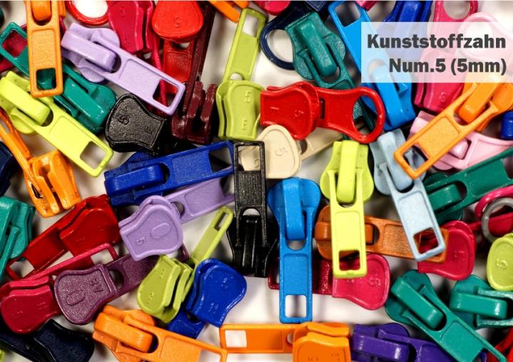 65810a8a2d325 Ersatz Zipper, Zipper, Schieber für Reißverschlüsse Kunststoffzahn 5mm  Num.5 reparieren, austauschen