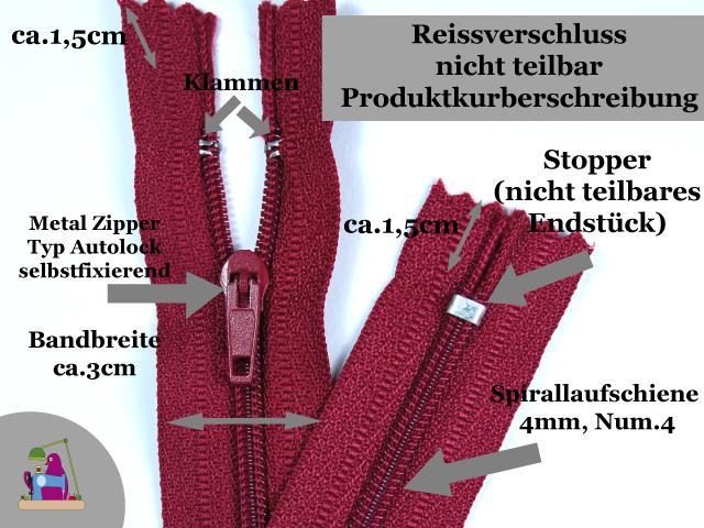 50 Reißverschlüsse 30cm Länge Spiralreißverschluss Taschenreißverschluss