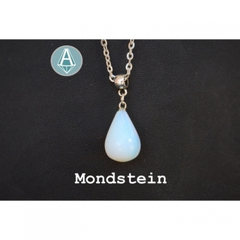 Necklace Chain Pendant Gem Moonstone length 56cm