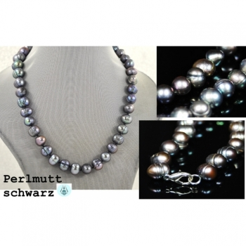 Necklace Chain Jewelry Black Mother of Pearl Length 44cm