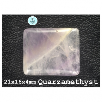 1st. Cabochon Gemstone Quartz Amethyst 21x16x4mm