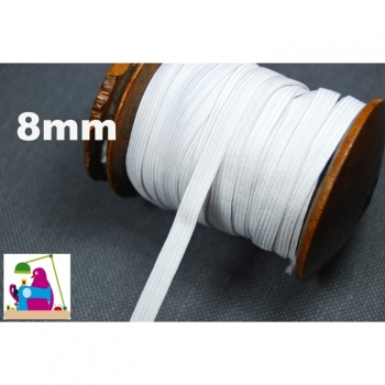 SALE!Elastic rubber band, rubber cord color white, width 8mm