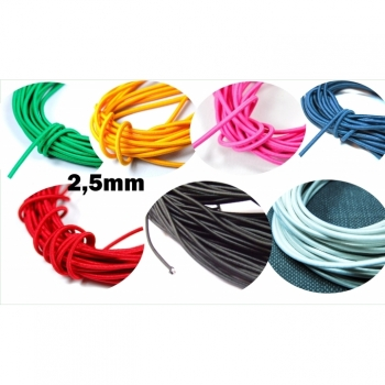 Rubber cord, hat rubber, elastic cord diameter 2.5mm 6 colors on offer