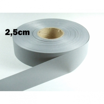 Reflective tape, reflective tape, safety tape width 2.5cm, gray reflective
