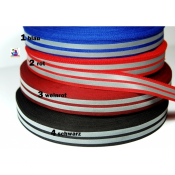 Reflective tape, reflective tape, safety tape width 2 cm, double reflective stripes. New design!