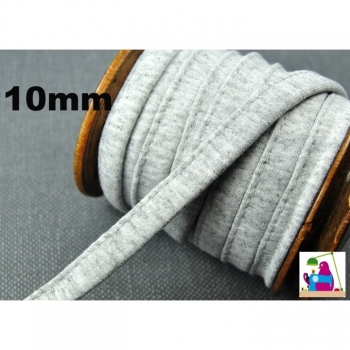Cord Cord Hoodieband flat gray sewn width 1 cm for jackets, hoodies, hoods, bags ...