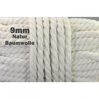 Cotton cord Cord Dekoband Diameter 9 mm, color natural beige perfect for jackets Hoodies, gym bags, hoodies and more.
