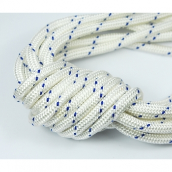 Household rope, rope, diameter ca.5 mm, color white blue, tear-resistant
