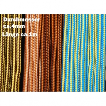 Cord, hoodie ribbon, cord, laces around 4mm 4 colors on offer, striped. For shoes, hoodies, jackets, gym bags, bags, DIY projects