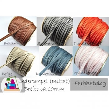 Paspelband, Paspel width 10mm, sewn through, imitation leather 10 colors on offer. Perfect for Bags, Pouches, Jackets, Coat, Vests, DIY Handmade Projects