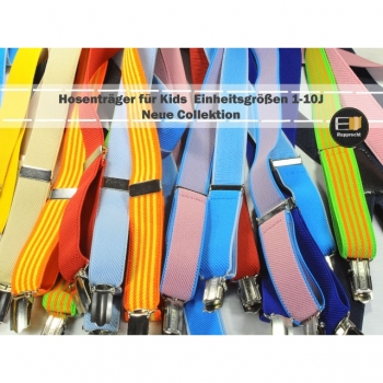 Children's suspenders Y shape, solid color for girls and boys, one size fits all 0 to 7 years