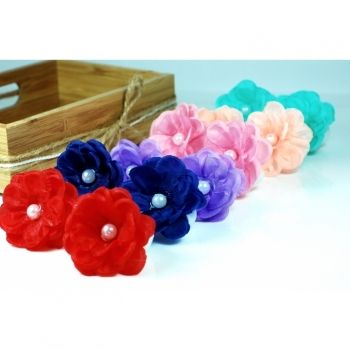 "1st. Hair tie hair accessories for girls ""PePa"" red blue mint pink lilac peach"