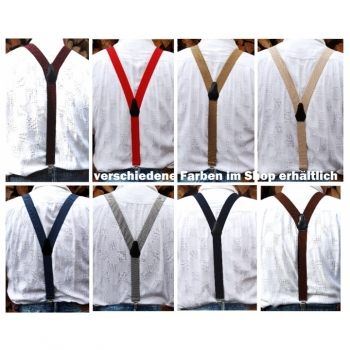Men's suspenders 35mm length ca.105cm Y-shape different colors on offer
