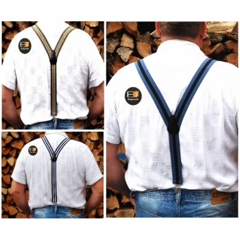 Men's Handmade Suspenders 35mm length ca.105cm Y-shape different colors on offer