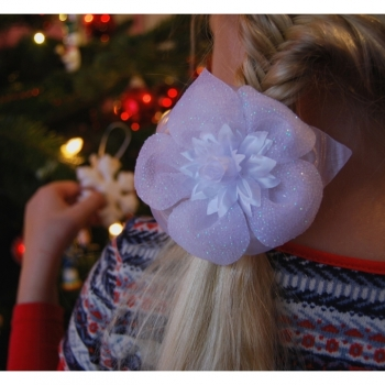 1st. Hair elastic hair accessories for the little ladies, white noble and elegant
