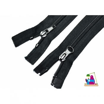 2 ways divisible zipper length 120cm, spiral track 7mm Num.7 black Typ 2