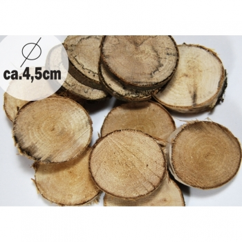 1 pc wooden disc diameter ca. 4.5cm oak for deco and craft