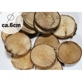 1 pc wooden disc diameter ca. 6cm oak, birch for decoration