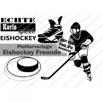"Plotterdatei Plottervorlage ""Eishockey Freunde"" Sofort Download DXF SVG PNG JPG"