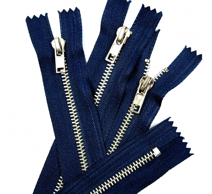Jeans Reissverschluss  Metall 16  cm braun//silber
