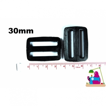 1st. Stopper slider strap regulator width 30mm color black plastic for webbing 3cm webbing for bags haberdashery sewing accessories