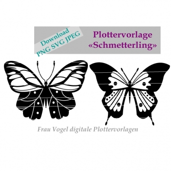 Plotter Motif Plotter Motif Butterfly SVG dxf png jpg Download plot T-Shirt Bügelblid Sticker Birthday dress aufpepen