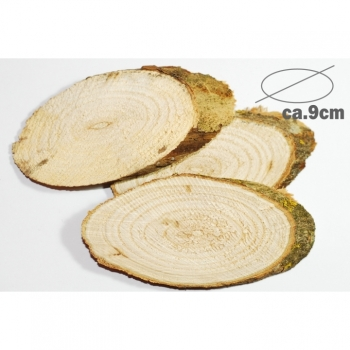 Wooden disks Wood circles Ø 9cm oval birch slice Mixpacket thickness approx.1cm Wedding decoration Deco