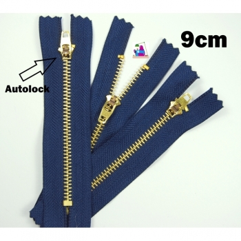 Zipper for jeans, pants, jeans jackets 9cm autolock blue