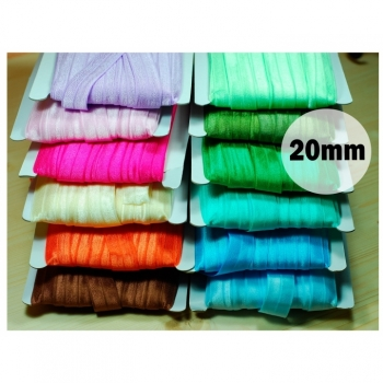 Folded rubber Folded elastic band 20mm 12 colors on offer