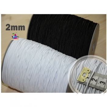 Elastic cord 2mm black or white for DIY face masks soft boil resistant hat rubber elastic band elastic cord elastic cord elastic band elastic