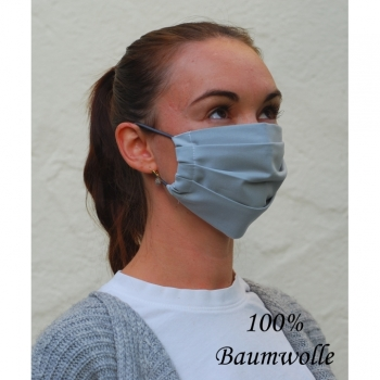 mouthguard mask cotton gray unisex with elastic cord makeshift mask mouth covering mask breathing mask cotton handmade masks washable